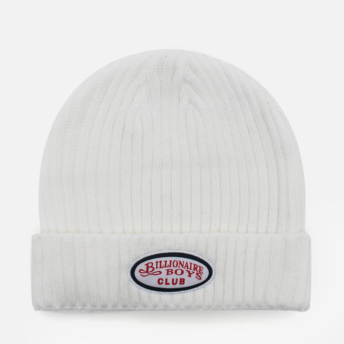 a26163145ca95 Мужская шапка Billionaire Boys Club Gentleman Patch Beanie White ...