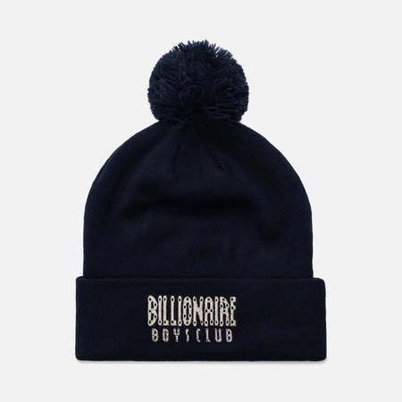 Мужская шапка Billionaire Boys Club Logo Ribbed Knitted Beanie Navy