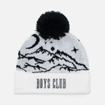 Мужская шапка Billionaire Boys Club Ski Bobble Beanie White фото- 0