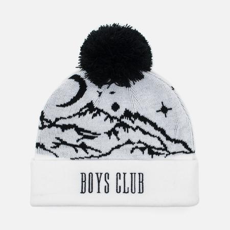 Billionaire Boys Club Ski Bobble Beanie Men's Hat White