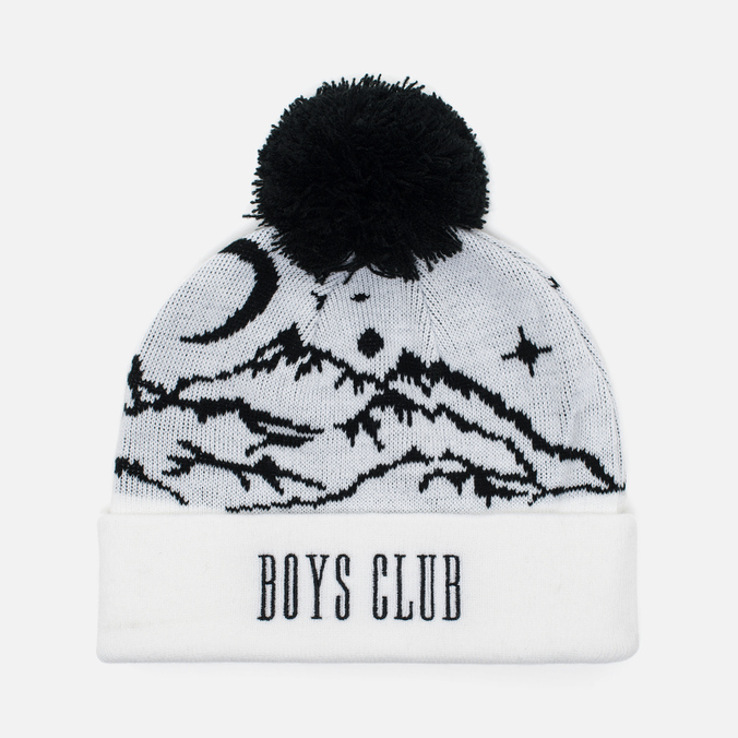 Мужская шапка Billionaire Boys Club Ski Bobble Beanie White