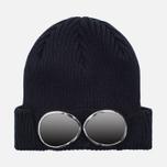 Мужская шапка C.P. Company Berretto Goggle Navy фото- 0