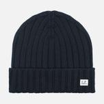 Мужская шапка C.P. Company Merino Wool Beanie Black фото- 0