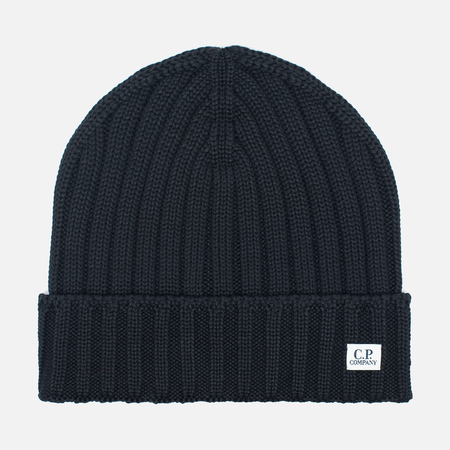 C.P. Company Merino Wool Beanie Men's Hat Black