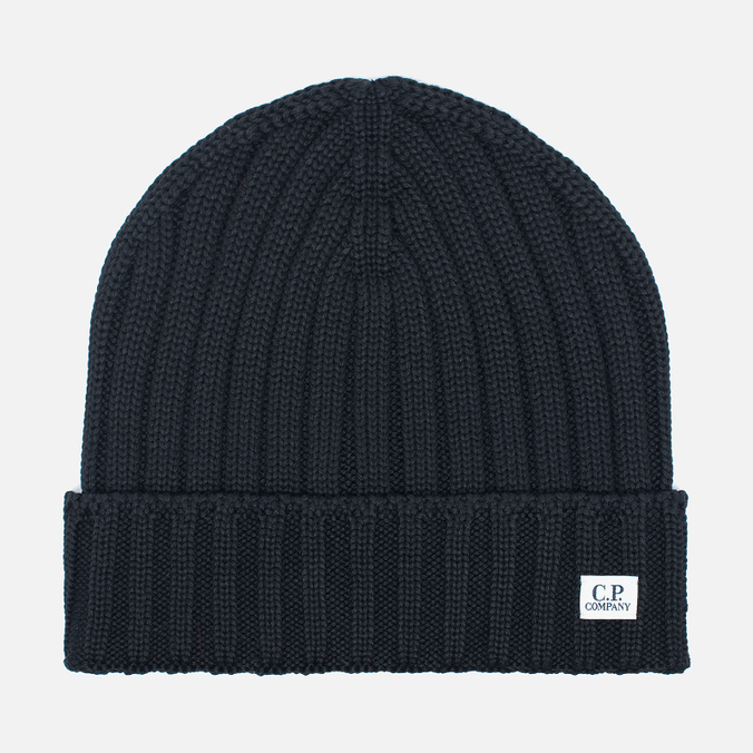 Мужская шапка C.P. Company Merino Wool Beanie Black