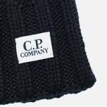 Мужская шапка C.P. Company Merino Wool Beanie Black фото- 1