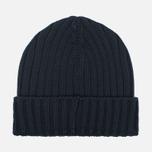 Мужская шапка C.P. Company Merino Wool Beanie Black фото- 3