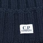 Мужская шапка C.P. Company Merino Wool Beanie Dark Blue фото- 1