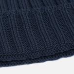 Мужская шапка C.P. Company Merino Wool Beanie Dark Blue фото- 2