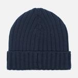 Мужская шапка C.P. Company Merino Wool Beanie Dark Blue фото- 4