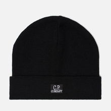 Шапка C.P. Company Wool Classic Logo Black фото- 0
