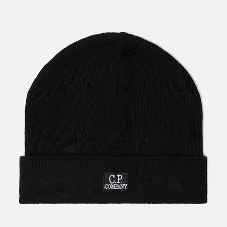 Мужская шапка C.P. Company Wool Classic Logo Black