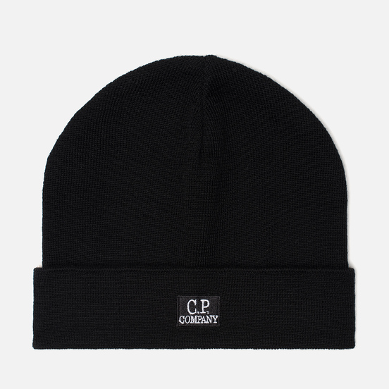 Шапка C.P. Company Wool Classic Logo Black