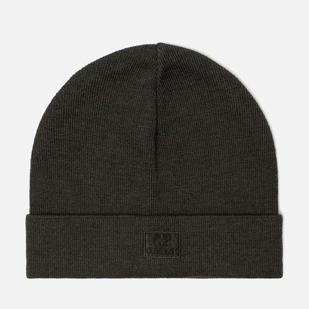 Мужская шапка C.P. Company Wool Classic Logo Dark Olive
