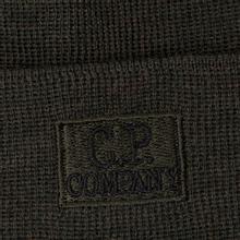 Шапка C.P. Company Wool Classic Logo Dark Olive фото- 1