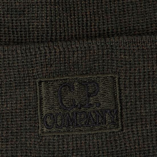 Шапка C.P. Company Wool Classic Logo Dark Olive
