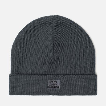 Шапка C.P. Company Wool Classic Logo Dark Slate