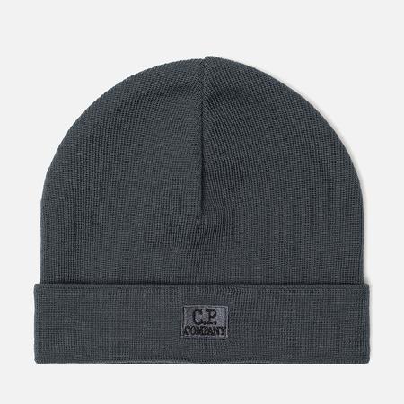 Мужская шапка C.P. Company Wool Classic Logo Dark Slate
