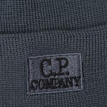 Шапка C.P. Company Wool Classic Logo Dark Slate фото- 1