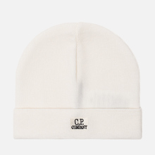 Шапка C.P. Company Wool Classic Logo Gauze White фото- 0