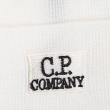 Шапка C.P. Company Wool Classic Logo Gauze White фото- 1