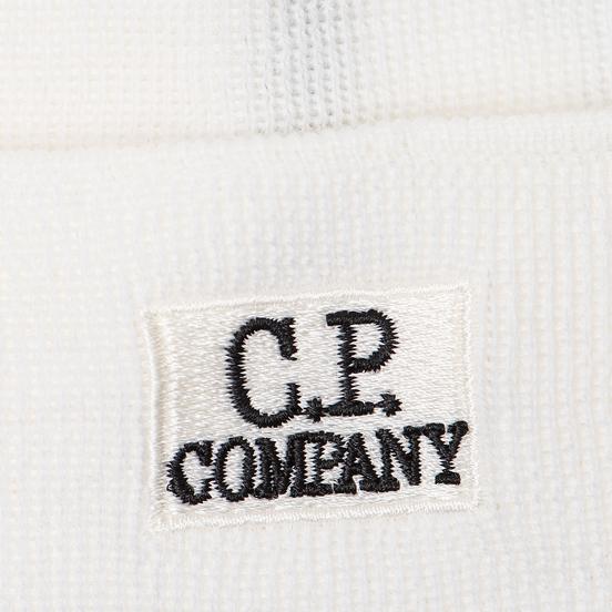 Шапка C.P. Company Wool Classic Logo Gauze White