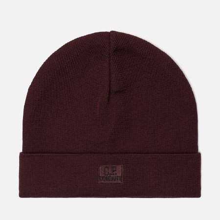 Мужская шапка C.P. Company Wool Classic Logo Tawny Port Purple