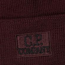 Шапка C.P. Company Wool Classic Logo Tawny Port Purple фото- 1