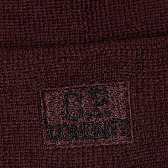 Шапка C.P. Company Wool Classic Logo Tawny Port Purple