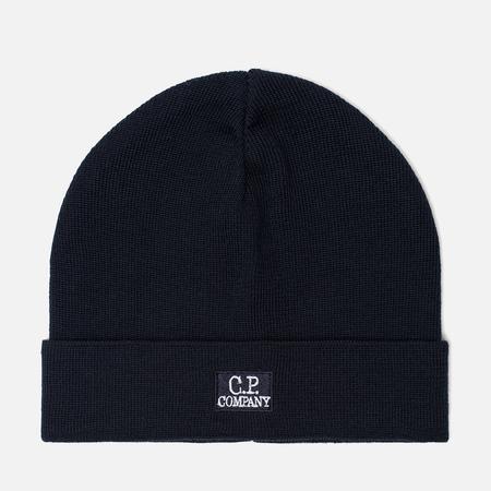 Мужская шапка C.P. Company Wool Classic Logo Total Eclipse