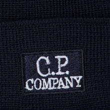 Шапка C.P. Company Wool Classic Logo Total Eclipse фото- 1