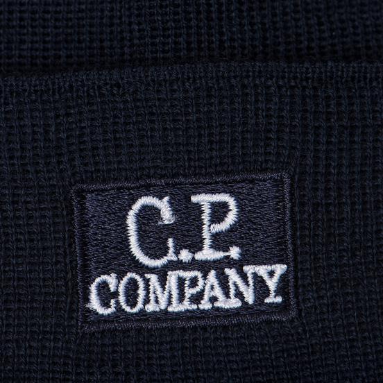 Шапка C.P. Company Wool Classic Logo Total Eclipse