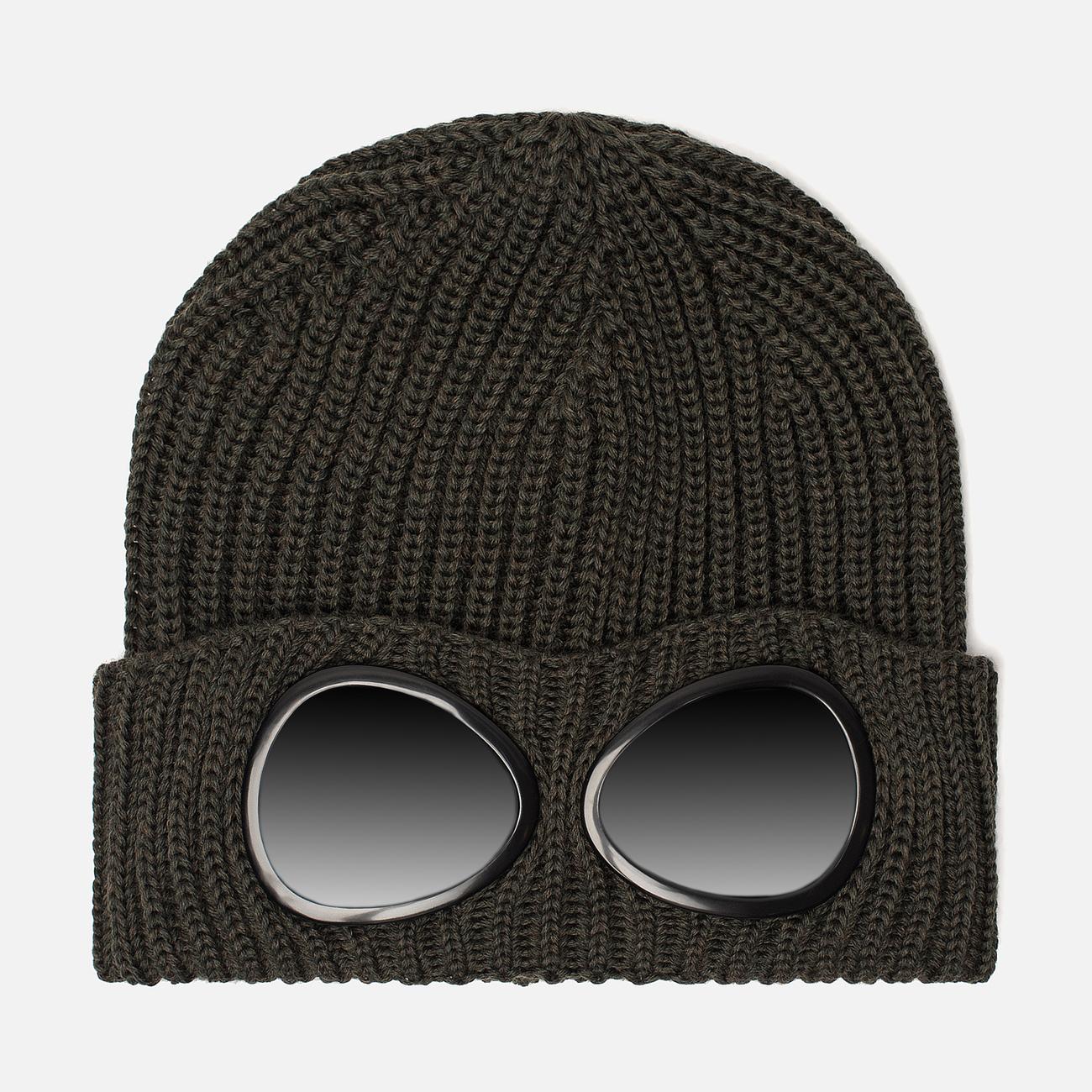 Шапка C.P. Company Wool Goggle Dark Olive