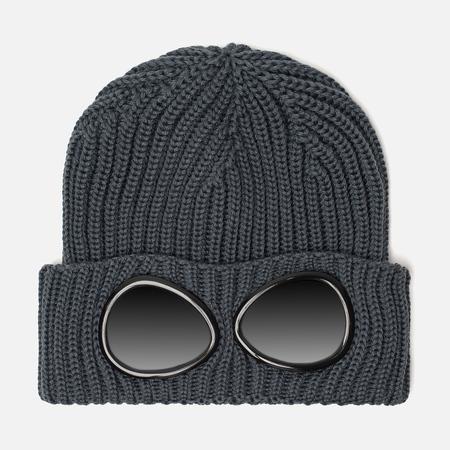Мужская шапка C.P. Company Wool Goggle Dark Slate