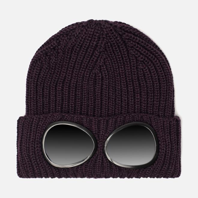 Шапка C.P. Company Wool Goggle Dark Violet