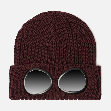 Мужская шапка C.P. Company Wool Goggle Tawny Port Purple
