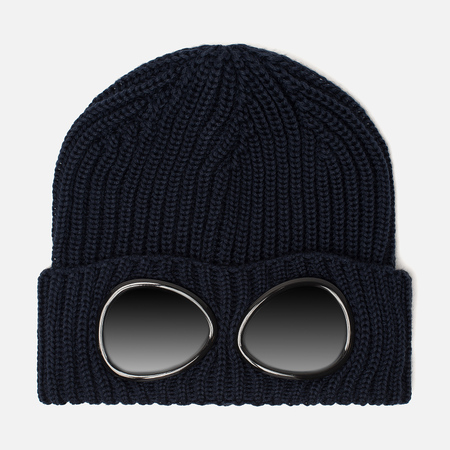 Мужская шапка C.P. Company Wool Goggle Total Eclipse