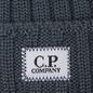 Шапка C.P. Company Wool Ribbed Logo Dark Slate фото - 1