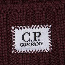 Шапка C.P. Company Wool Ribbed Logo Tawny Port Purple фото- 1