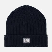 Шапка C.P. Company Wool Ribbed Logo Total Eclipse фото- 0