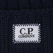 Шапка C.P. Company Wool Ribbed Logo Total Eclipse фото- 1