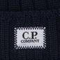 Шапка C.P. Company Wool Ribbed Logo Total Eclipse фото - 1