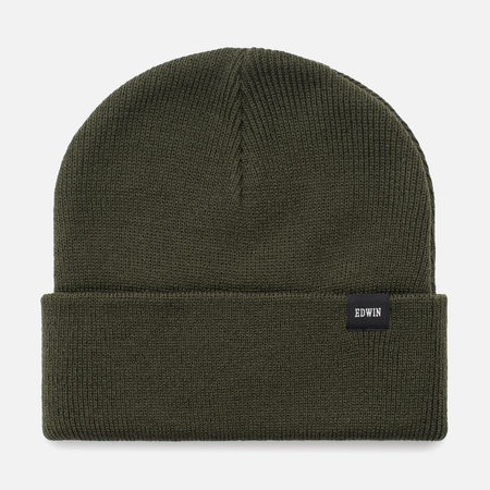 Мужская шапка Edwin Watch Beanie Olive Drab