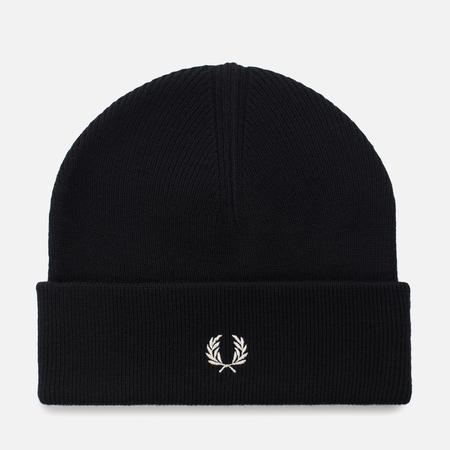 Мужская шапка Fred Perry Merino Wool Beanie Black