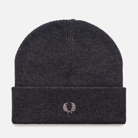 Мужская шапка Fred Perry Merino Wool Beanie Charcoal Marl