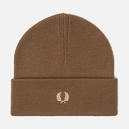 Шапка Fred Perry Merino Wool Beanie Dark Caramel