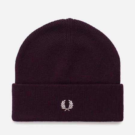 Мужская шапка Fred Perry Merino Wool Beanie Mahogany