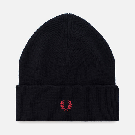 Мужская шапка Fred Perry Merino Wool Beanie Navy