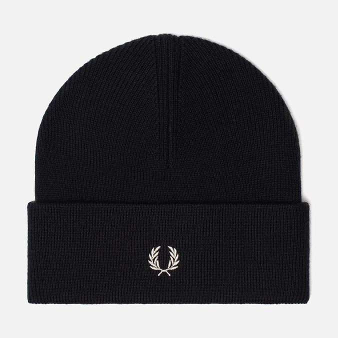 Шапка Fred Perry Merino Wool Beanie Navy/Ecru