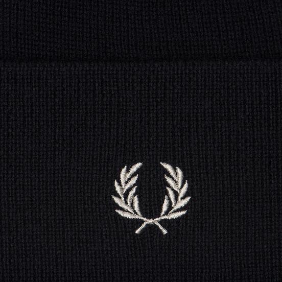 Шапка Fred Perry Merino Wool Beanie Navy/Ecru